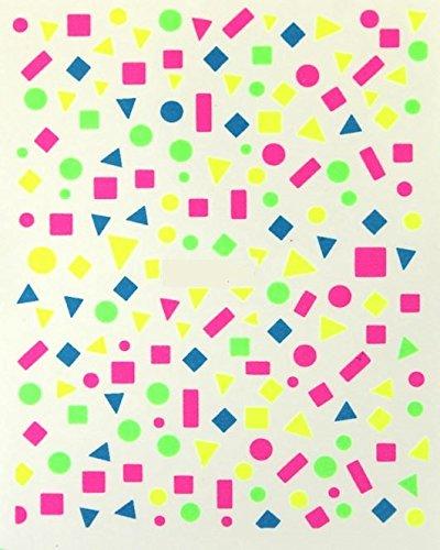 online-hut One-Stroke-Sticker Neon, Punkt, Dreieck, Viereck