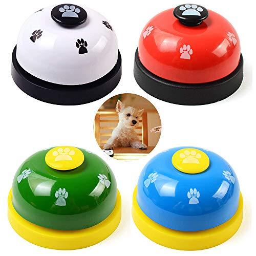 Seully 4 Piezas Campana de Metal para Perros, Timbre de Entrenamiento de Mascotas para Cachorros/Alimentación Interactiva de Juguetes,Juguetes Educativos para Gatos y Perros,Herramienta para Mascotas