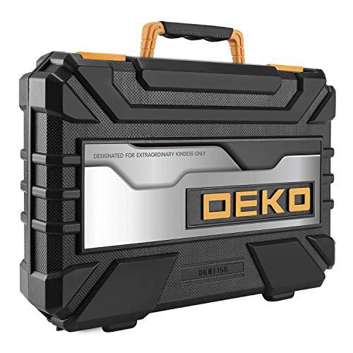 DEKOPRO 158 Piece Tool Set-General Household Hand Tool Kit,Auto Repair Tool Set, with Plastic Toolbox Storage Case
