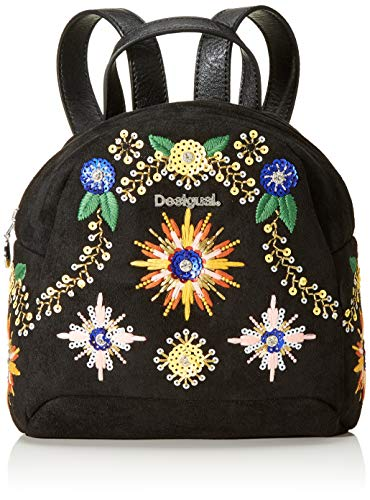 Desigual Backpack Ethnic Cosmic Jazz Venice Baby, NEGRO