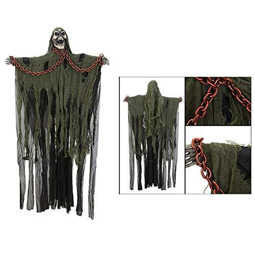 SXXYXH Fantasma De Halloween Colgante, Fantasma De Esqueleto Flotante Fantasma Colgante Grande Cadena De Hierro Fantasma Prisionero para La Casa Embrujada De La Ventana De La Barra del Patio,A
