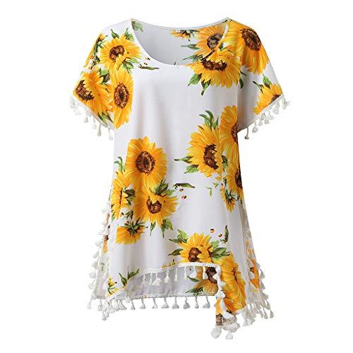 TOWAKM Damen Sommer Strand Happy T-Shirt elegant Mädchen Niedlich pullis Mode...