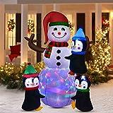YQing 183cm Pupazzo di Neve Gonfiabile Natale Esterno Decorazioni, Gigante...