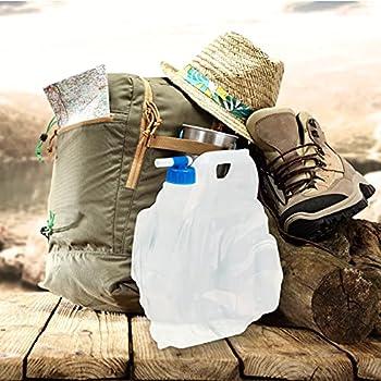 Relaxdays Jerrycan lot de 4 pour camping, festival, vacances jerricane alimentaire bidon à eau 15 L sans BPA