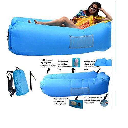 HUALX Sofá de Aire Exterior Sofá Inflable rápido Tumbona Hangout Playa Cama de Aire Saco de Dormir Plegable Sofá Perezoso Sofá Perezoso (2#)