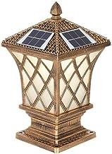 ZZYJYALG Solar IP55 Waterdichte Outdoor Tuinlamp Post Licht Glas Kolom Lamp LED Decoratie Straat Licht Gazon Villa Lamp Po...