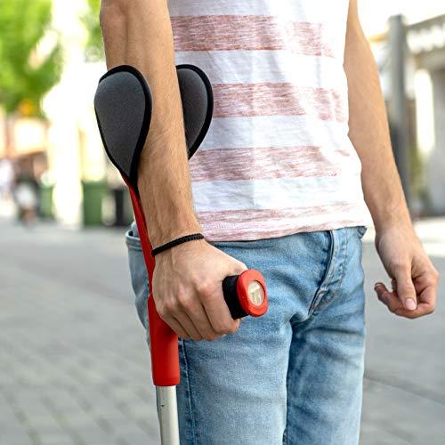 51w9zq9LIiL - ICEHOF Juego de 4 almohadillas para andador – Muleta de ayuda para andar – Apoyos de antebrazo – Accesorios acolchados contra la fricción – Cojín amortiguador para codos, antebrazos (juego completo)
