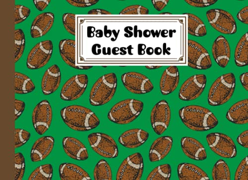 Baby Shower Guest Book: Rugby Baby Shower Guest Book, A Mother's Historical Memory Book| Humorous Funny Mamie And Babies Guestbook| By Susan Fanning