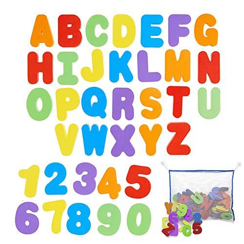 Badespielzeug, Bad Spielzeug Organizer Badewannenspielzeug Aufräumsack Kinder Badewannen Spielzeug Aufbewahrungsnetz Spieldecke Aufräumsack mit Bade Buchstaben und Zahlen, Saugnäpfen, für Kinder
