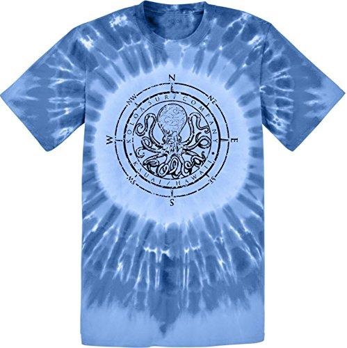 Joe's USA Koloa(tm) Surf Octopus Logo Circle Tie Dye T-Shirt-Royal/b-2XL
