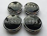 Set di 4 coprimozzo centrale per ruote in lega, 77 mm colore: nero