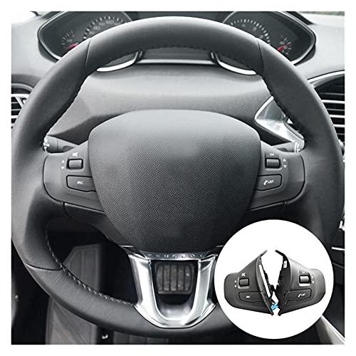 ZHANGJIN Interruptor de botón de Rueda de automóvil Fit para Peugeot 308S 2008 Nuevo 308 98084115ZD (Color : Black)