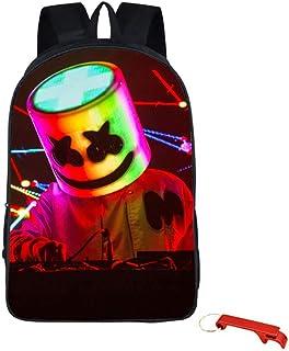 Mochila Marshmello Impresa en 3D,Bolsos para Hombros,Mochila Escolar de DJ Marshmello,Mochilas para Actividades al Aire Libre o de Viaje-Mochila para portátiles Unisex para Estudiantes/niños (M-03)