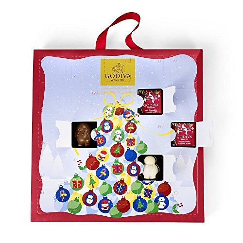 Chocolate Advent Calendar, Countdown to Christmas by Godiva Chocolatier, 12.8 ounce.
