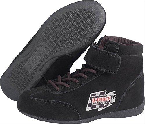 G-Force 0235120BK RaceGrip Black Size-120 Mid-Top Racing Shoes