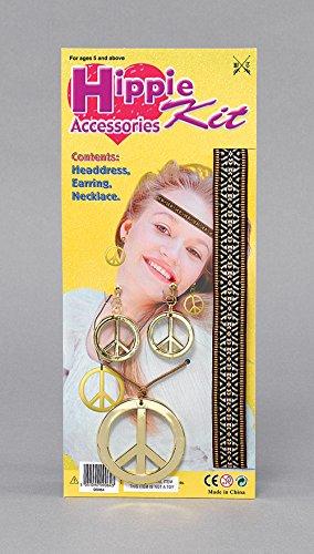 Hippie Kit D'accessoires Costume pour 60s 70s Hippie Costume Déguisement Ensemble Kit