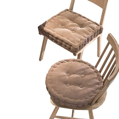 Pana Cojín De La Silla,Grueso Cojín De Asiento,Súper Suave Cojín De Asiento,Butaca Booster Cushion para Interiores Y Exteriores-Curry Caliente 40cm De Diámetro Redondo