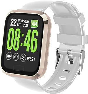 DLIBIG Smartwatch con Pulsometro,Smartwatch con Pulsómetro,Impermeable IP67 Reloj Inteligente con Cronómetro,Pulsera Actividad para Android y iOS