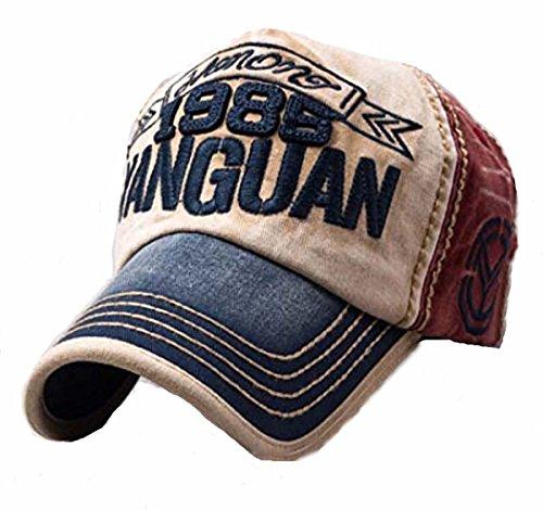 Sun Hat Gorra de béisbol Vintage con Aspecto gastado, Tipo Snapback, Transpirable, con Cinta Ajustable