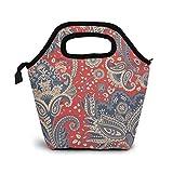 Indian Flower Paisley Lunch Bag Cooler Bag Mujer Tote Bag Aislante Lunch Box Bolsas térmicas para Mujeres/Picnic/Navegación/Playa/Pesca/Trabajo