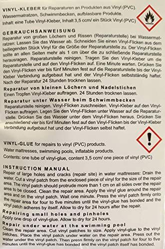 Blue Magic PVC Reparatur-Set: Kleber und Flicken für Wasserbett, Pool, Planschbecken, Wasserball, Schwimmflügel etc.
