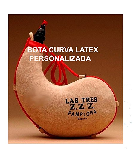 Las Tres Z.Z.Z. Bota de Vino Curva de Latex- Personalizada - 2 litros