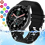 Burxoe Smart Watch, Ip67 Waterproof Smartwatch for Android Phones, Fitness Watch with Blood Pressure Blood Oxygen Heart Rate Monitor ActivityTracker with Pedometer Calorie for Samsung Women Men