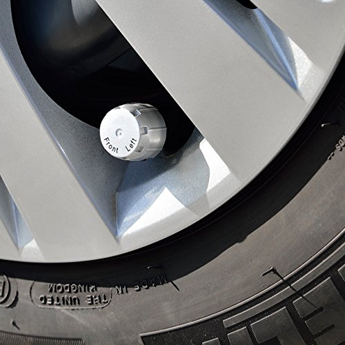 Lescars RDKS: Reifendruck-Kontrollsystem mit Temperaturanzeige, 12 V, USB (Reifendruckanzeige)