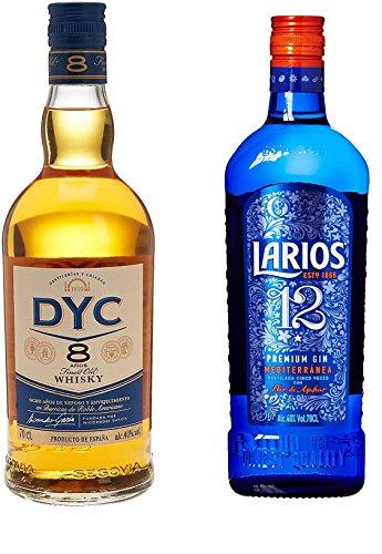 Dyc - Whisky 8A, 40º, 0.7 L + Larios - Ginebra 12 Premium Mediterranéa, 40%, 0.7 L