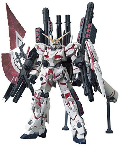 Bandai Hobby HGUC Full Armor Destroy Mode/Red Version Gundam Unicorn Model Kit (1/144 Scale)