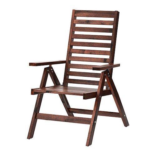 ÄPPLARÖ Ikea Relaxsessel Outdoor Klappbar braun gebeizt