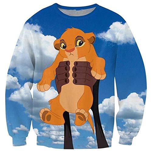 Funny Hoodies Interesting Hot Sudadera 3D Ropa Camiseta Bebé Simba S