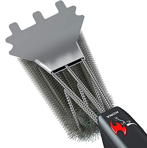 Kona [2 Pack] 360 Grill Brush Scraper Cleaner - Wrap Around Cleaning Technology (2...
