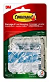 Command Outdoor Light Clips, Hang Lights Damage-Free, 4-Packs, 64-Total Clips