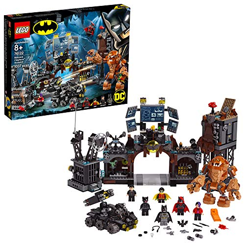 LEGO DC Batman Batcave Clayface Invasion 76122 Batman Toy Building Kit with Batman and Bruce Wayne Action Minifigures, Popular DC Superhero Toy (1037 Pieces)