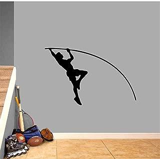 MRQXDP Pole Vaulter Wall Decal Sports Teams Kids Room Classroom Locker Room Removable Wall Art Decor Vinyl Wall Stickers 57x88cm murales Wallpaper pared Dormitory Decoration