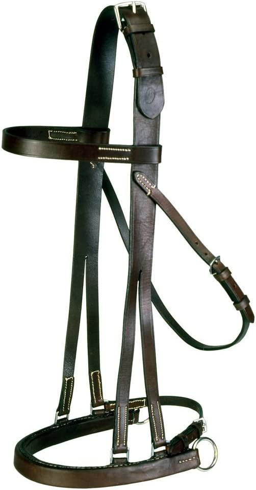 EquiRoyal Hackamore Outlet sale feature Jump Daily bargain sale Bridle Full - Brown