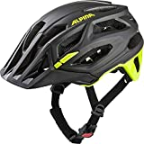 ALPINA GARBANZO, Caschi da Ciclismo Unisex-Adult, Black-Neon Yellow, 52-57