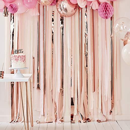 Ginger Ray Mezcla de Fondos para Fiesta de Color Rosa y Rosa