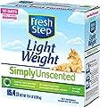 Fresh Step Simply Unscented Lightweight Litter, Clumping Cat Litter, 15.4 Pounds
