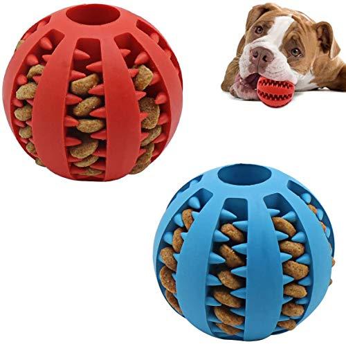 Bola de juguete para perros, juguete para perros resistente a la dentición, bola con fugas para mascotas, bola de entrenamiento de limpieza de dientes para masticar 6cm