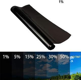 Famyfamy 50x600cm Autofensterfolien, Glasfärbefolie, Solar UV UV Schutz Aufkleber für Car House (1%)
