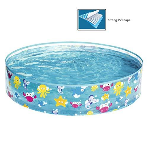 Piscines Cadre Piscines Transparent Bassin for Enfants Piscine Accueil Enfants De Grande Piscine Jardin Gonflable Fish Farm (Color : Blue, Size : 122 * 25cm)