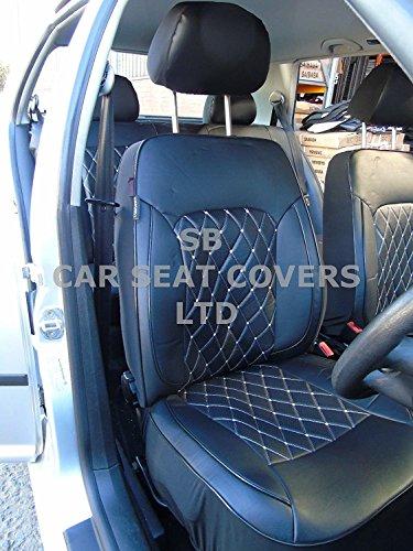 R - Apto para coches Suzuki SWIFT, fundas de asiento, color negro