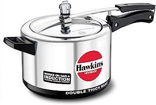 HAWKINS H56 Hevibase Induction Compatible Aluminum Pressure Cooker, 5-Liter,SILVER