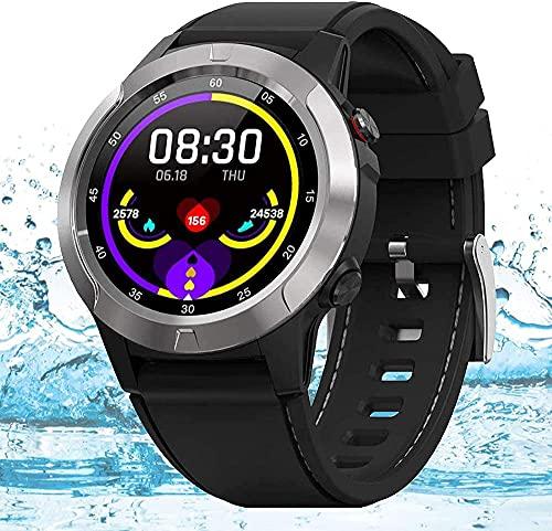 Orologio intelligente con cardiofrequenzimetro, monitor del sonno, fitness tracker di fascia alta, con contatore calorie, tracker di attività, orologio sportivo impermeabile IP67-A