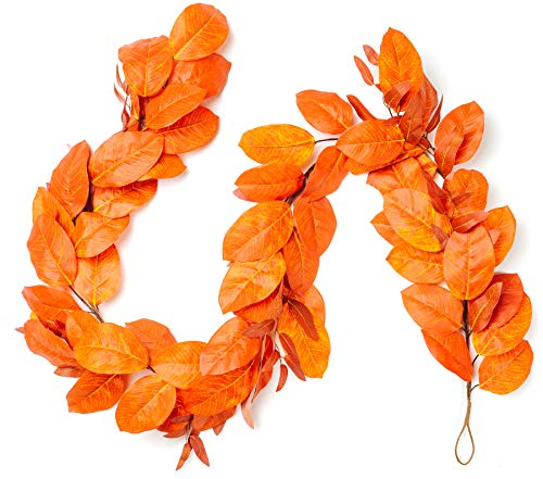 CraftMore Magnolia Fall Leaf Garland 72'