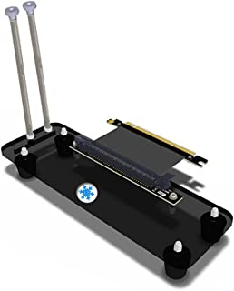 ATX Case,PCI- E 3.0 16X Graphics Card Vertical Kickstand/Base with high Speed PCI-E Extension Cable for DIY ATX case Computer Graphics Card Holder