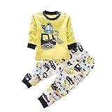 ESHOO - Pijama Dos Piezas - Manga Larga - para niños y niñas...