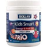 Bioglan Kid's Smart Trios Omega 3 Fish Oil Chewable Burstlets, 180 Count